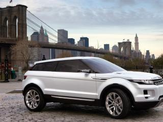 обои для рабочего стола: Белый Land Rover