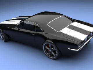 обои Черный Chevrolet Camaro ss фото