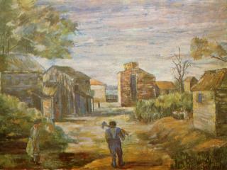 обои Джозеф Биел - Негритянская деревня фото