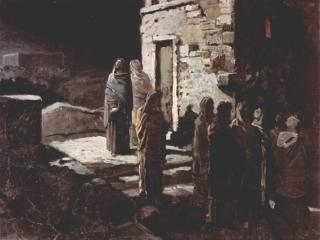 обои для рабочего стола: Николай Ге - Христос в Гефсиманском саду