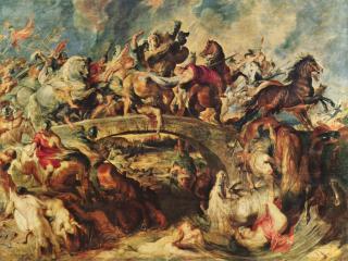 обои П. Рубенс - Битва греков с амазонками фото