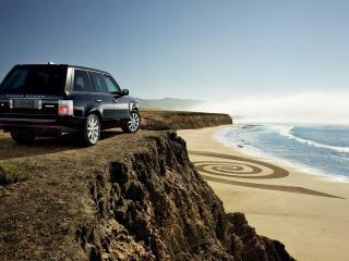 обои Range Rover смотрит на море фото