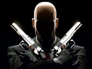обои Хитмен с двумя пистолетами фото