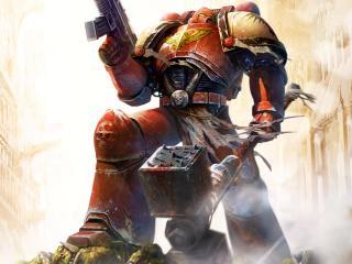 обои Красный робот-истребитель фото