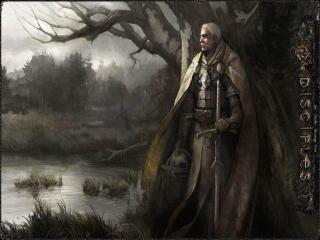 обои Воин с мечом у дерева фото
