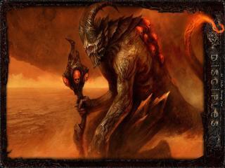 обои Дьявол в глубинах огня фото