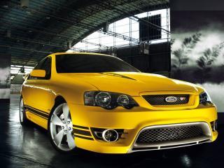обои для рабочего стола: Жёлтый Ford GT