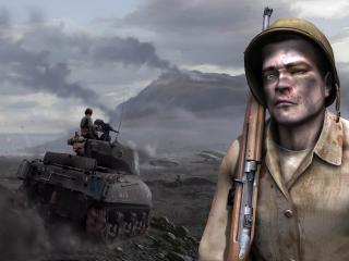 "обои Раненный солдат из ""Medal of Honor Airborne"" фото"