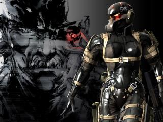 обои Metal Gear Solid Soldier in black фото