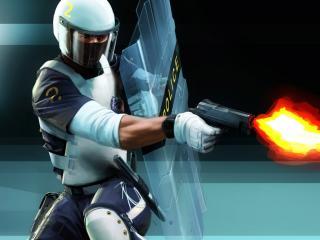 обои Стрелок в сверхзащитном костюме фото
