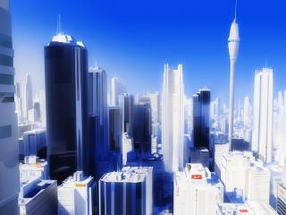 """обои Белый и сияющий город """"Mirror s Edge"""" фото"""