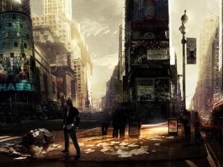 """обои Разгромленный город из """"Prototype"""" фото"""