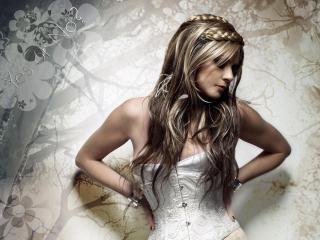 обои Невеста с косами фото