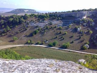 обои Вид с вершины горы фото
