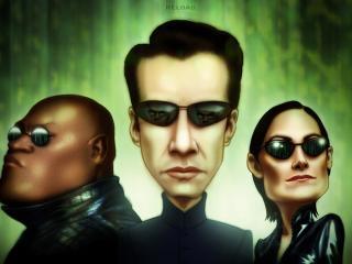 обои Трое нарисованных героя Матрицы фото