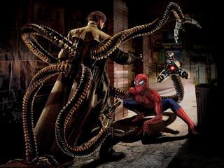 обои Человек-паук против доктора Октопуса фото