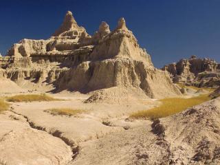 обои Горы цвета жёлтой пустыни фото