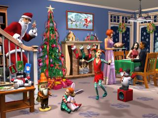 обои The Sims 2: Festive Holiday Stuff фото