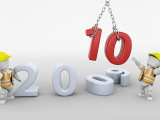 обои Замена цифр новый  2010 фото