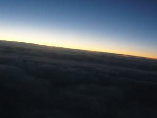 обои Рассвет, вид с самолета фото