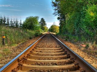 обои Железнодорожная линия фото