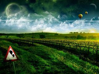 обои Воздушные шары фото