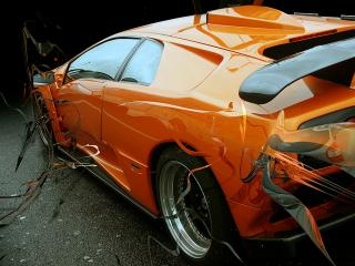 обои Авто оранжевый фотошоп фото