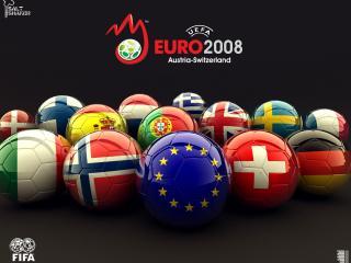 обои Euro 2008 balls фото