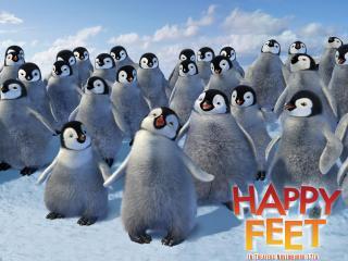 обои Много пингвинов в 3d - happy feet фото