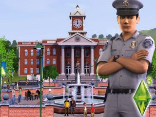 обои The Sims 3 - полицейский фото