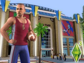 обои The Sims 3 - спортсмен у стадиона фото