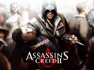 обои Assasins Creed 2 в толпе фото