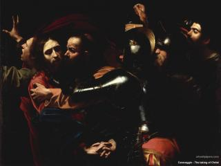 обои Caravaggio - The taking of Christ фото