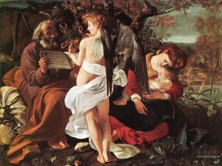 обои Caravaggio - Rest on Flight to Egypt фото