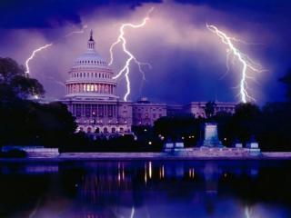обои Молния над Вашингтоном фото