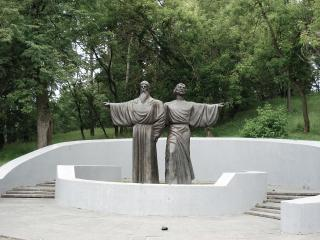 обои Памятник на набережной фото