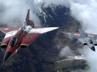 обои Истребители над горами фото