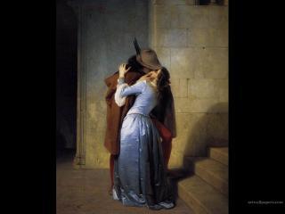 обои Francesco Hayez - The Kiss фото