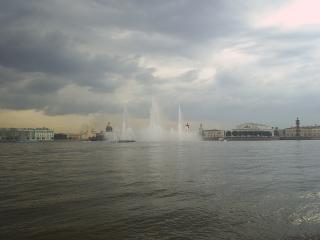 обои Плавучий фонтан фото