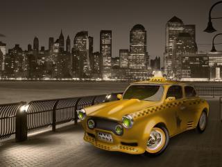 обои Такси 3D фото