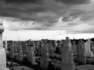 обои Страшное кладбище фото