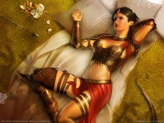 обои Принц Персии девушка на ложе фото