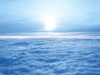 обои Красивое белое небо фото