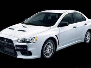 обои Белый, сильный Mitsubishi Lancer Evolution X RS фото
