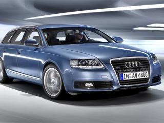 обои Audi A6 голубой универсал фото