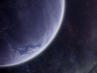 обои для рабочего стола: Планета на фоне звёзд