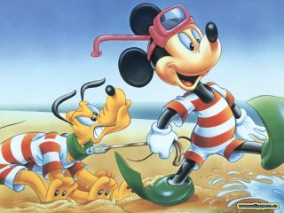 обои Микки Маус и Плуто фото