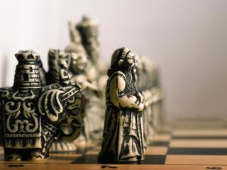 обои Шахматные фигуры из слоновой кости фото