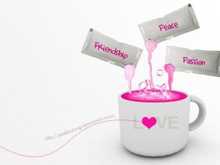 обои для рабочего стола: Чашка любви