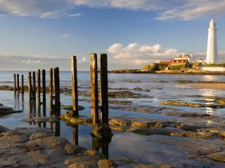 обои Англия, маяк на закате фото